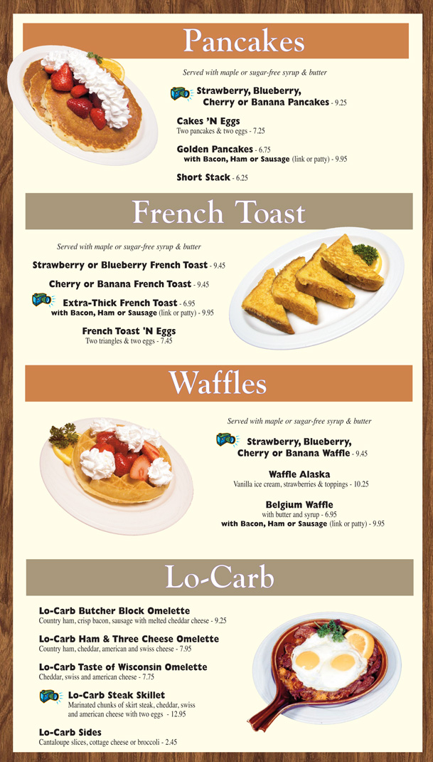 Breakfast Menu  Around The Clock Restaurant