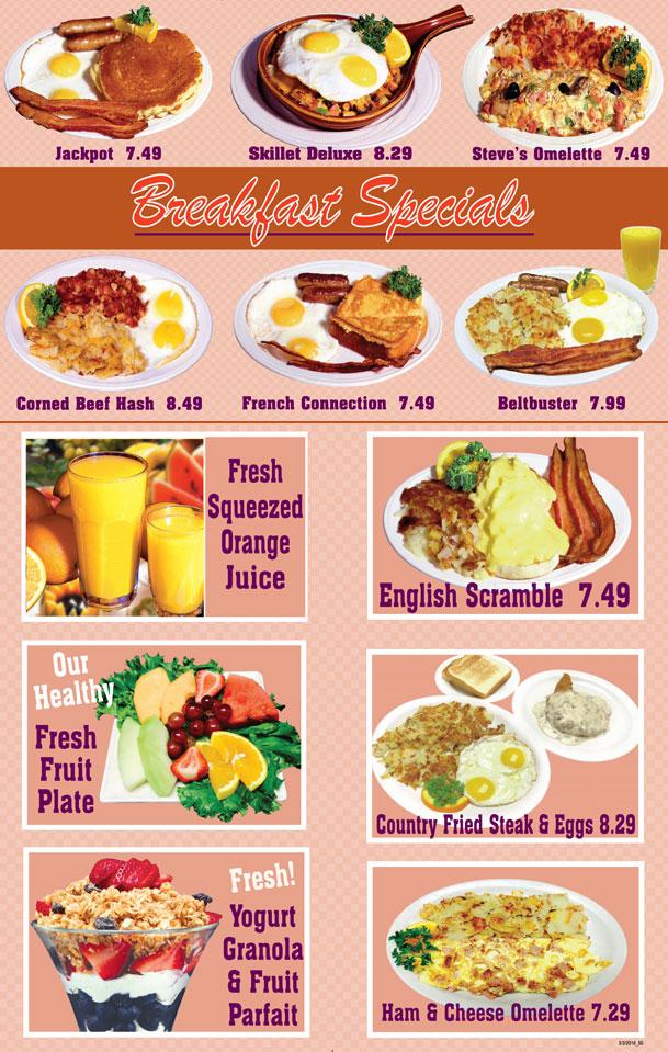 Breakfast Specials Around The Clock Restaurant